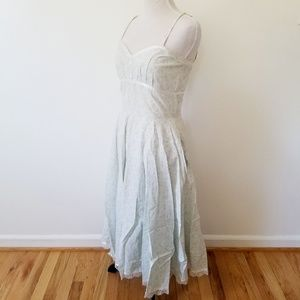 Dresses - VINTAGE! Sweetheart Neckline Midi Dress W/ POCKETS